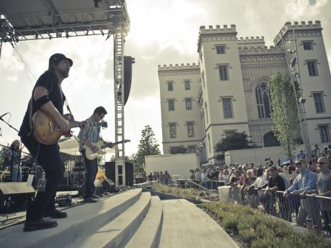 Jamming at the Baton Rouge Blues Festival